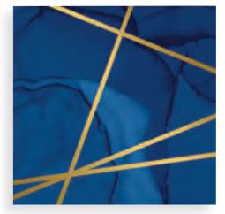 Servilleta Blue and Foil