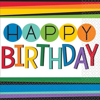 Servilleta Rainbow Birthday