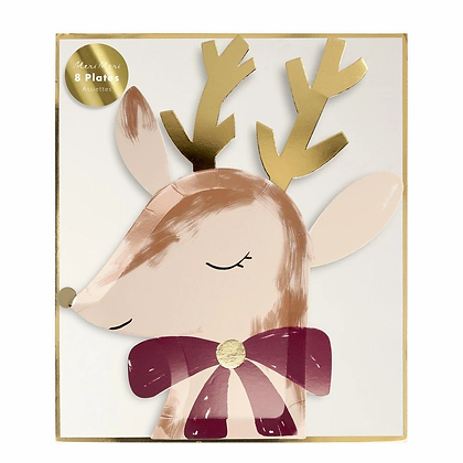 Reindeer With Bow Plates