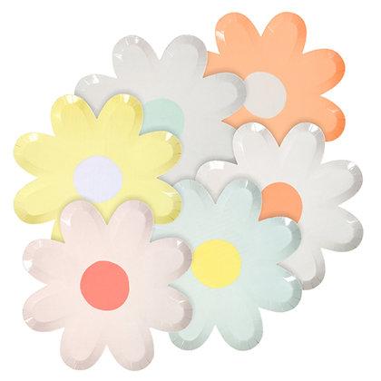 Plato Grande Pastel Daisy