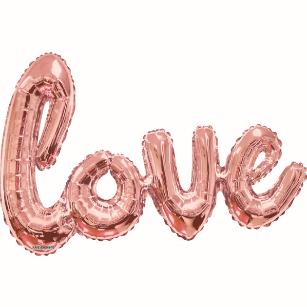Globo Script Love Rose Gold