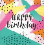Servilleta Happy Birthday Colors