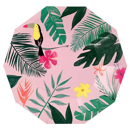 Plato Grande Pink Tropical