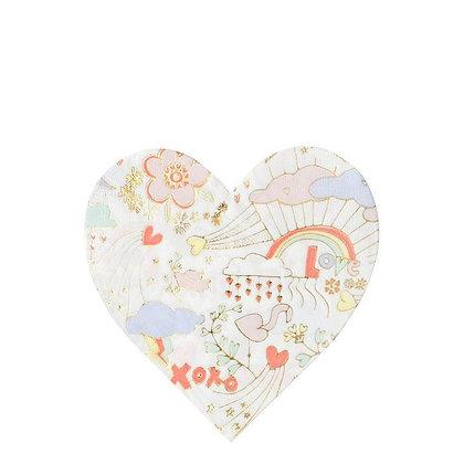 Valentine Doodle Large Napkin