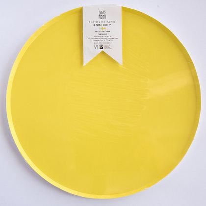 Plato Grande Amarillo Tin Marin