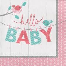 Servilleta Hello Baby Girl