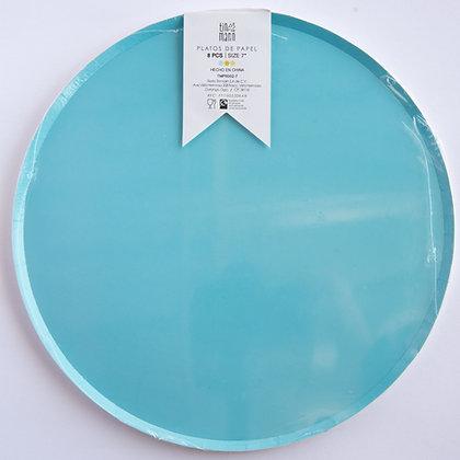 Plato Grande Azul Pastel Tin Marin