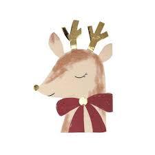 Reindeer With Bow Servilletas