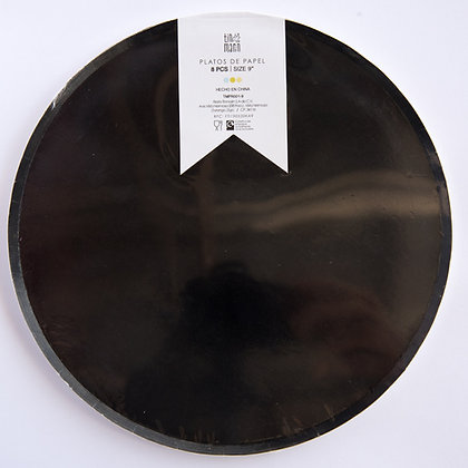 Plato Grande Negro Tin Marin