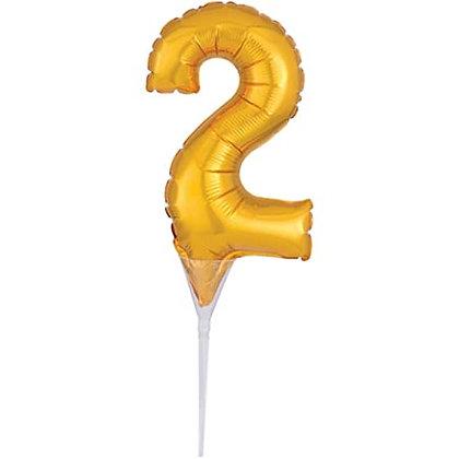 Mini Cake Topper Dorado Numero