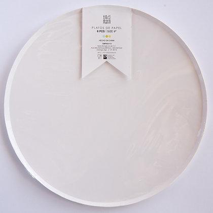 Plato Grande Blanco Tin Marin