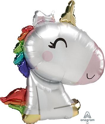 Globo unicornio sentado