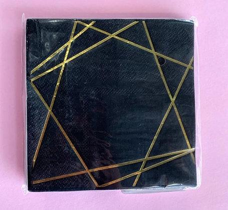 Servilleta Black and Gold