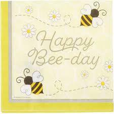 Servilleta Happy bee-day