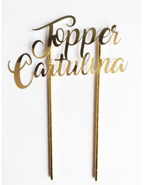 Cake Topper Cartulina
