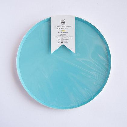 Plato Chico Azul Pastel Tin Marin
