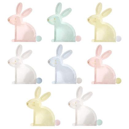 Pastel Bunny Plates