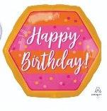 Globo Happy Birthday Hexagonal