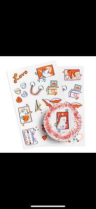 Stickers Comestibles Love