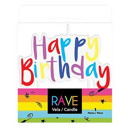 Vela Happy Birthday Palillo