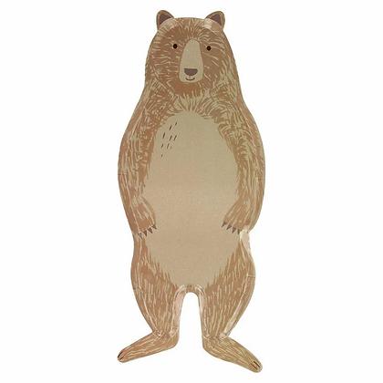 Brown Bear Large Plates