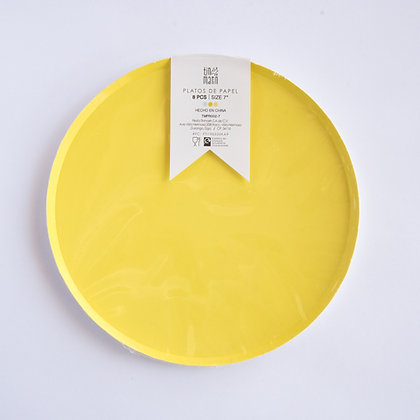 Plato Chico Amarillo Tin Marin