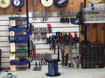 Fishing reel repair bench