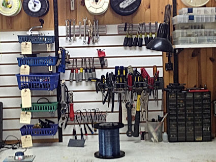 Fishing reel repair bench