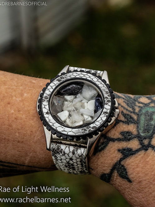 Crystal watch infused with healing energy