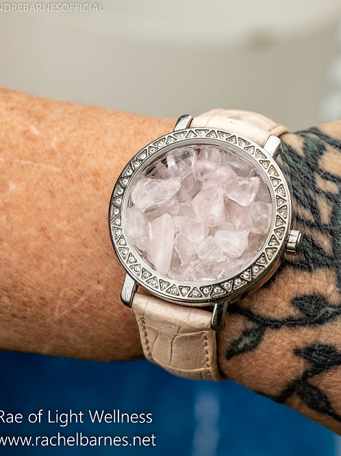 ROSE QUARTZ WATCH INFUSED WITH HEALING ENERGY