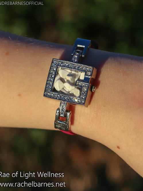 Howlite Crystal Watch Infused with Healing Engergy