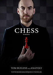 Chess musical; Tom Buelens als Anatoly; Bohemian Productions Sint-Niklaas
