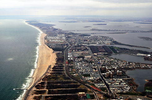 Aerial view of the Rockaway Peninsula