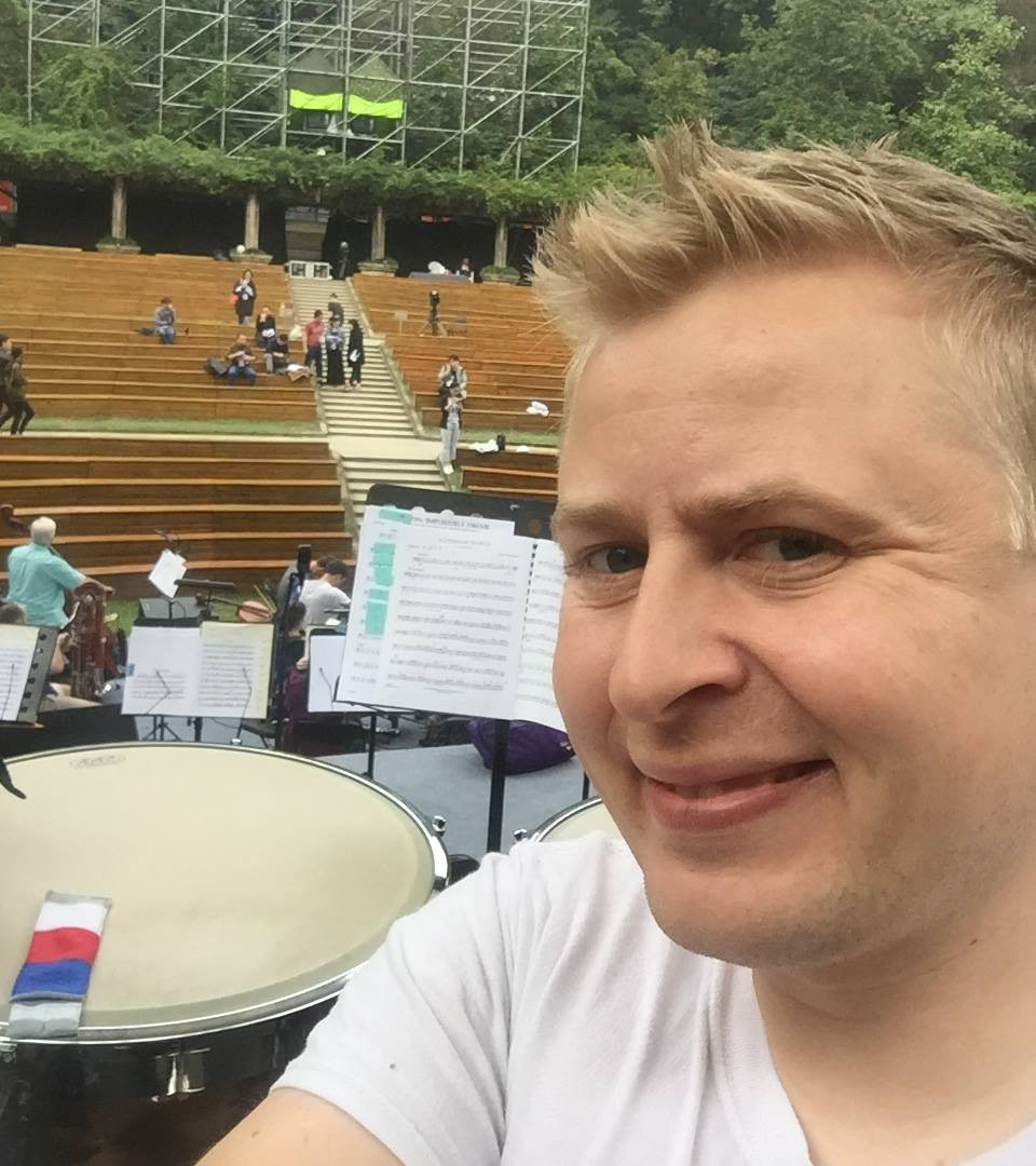 Playing a concert in Nanjing, China!