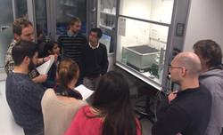 Lab Open Day - Ioannis & Richard describ