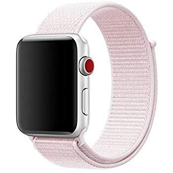 Bracelete Nylon Loop Pearl Pink