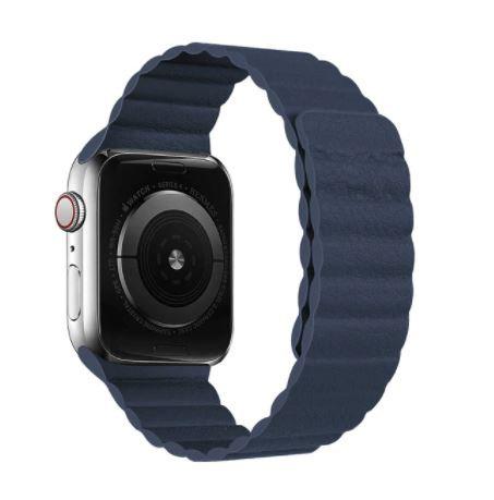 Bracelete Cabedal Banda Magnética Azul 2020
