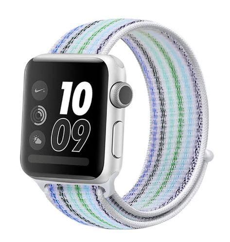 Bracelete Nylon Loop Light Blue Stripe