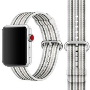 Bracelete Nylon White Stripe