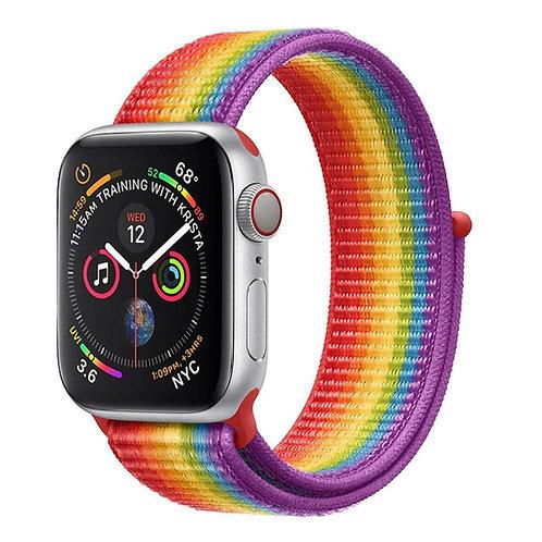 Bracelete Nylon Loop Rainbow