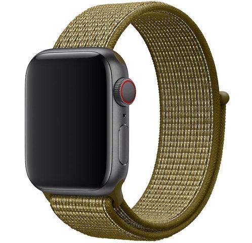 Bracelete Nylon Loop Green Olive