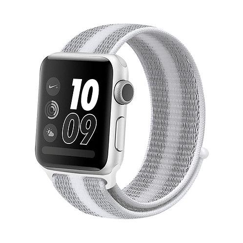 Bracelete Nylon Loop White Gray