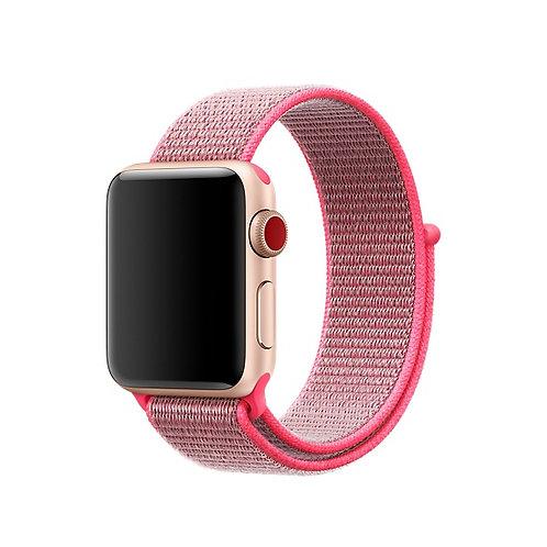 Bracelete Nylon Loop Hot Pink