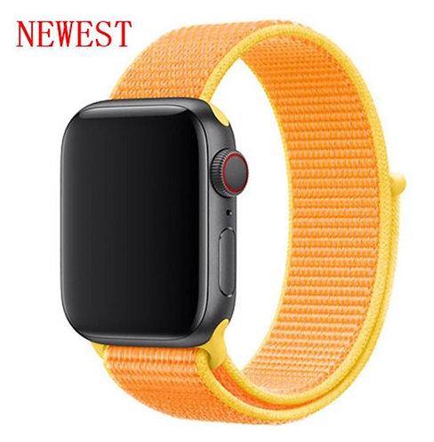 Bracelete Nylon Loop Canary Yellow