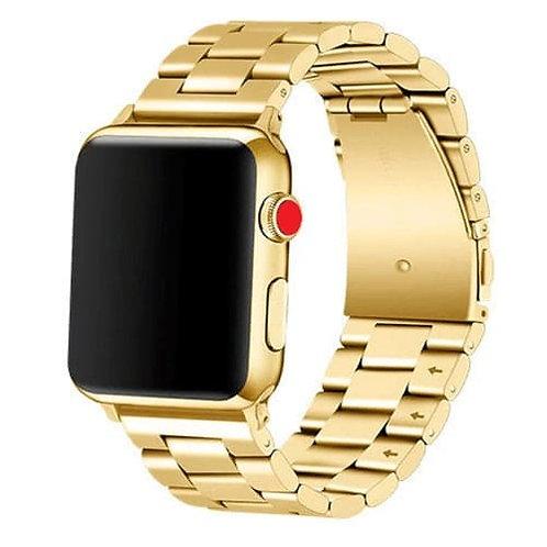Bracelete Metálica Aço Inoxidável Dourada