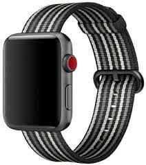 Bracelete Nylon Black Stripes