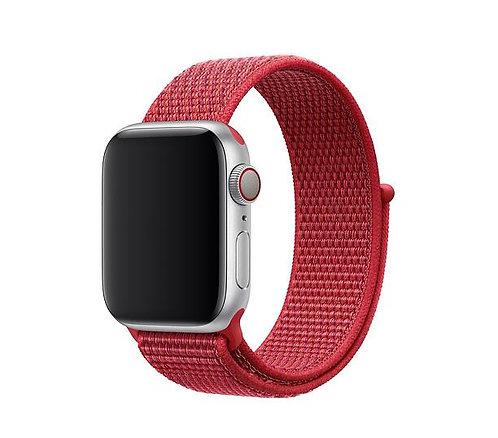 Bracelete Nylon Loop New Red