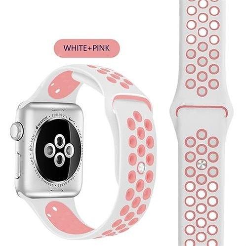 Bracelete Desportiva White Pink