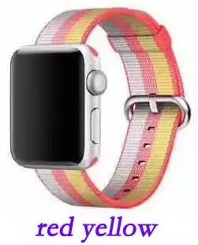 Bracelete Nylon Red Yellow