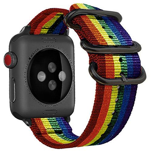 Bracelete Tecido de Nylon Arco-Íris 1